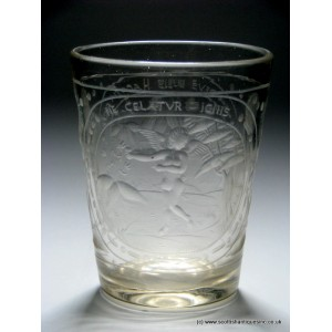 Bohemian Engraved Glass Tumbler c1720