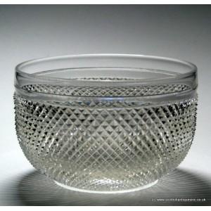 Victorian Diamond Cut Finger Bowl c1880
