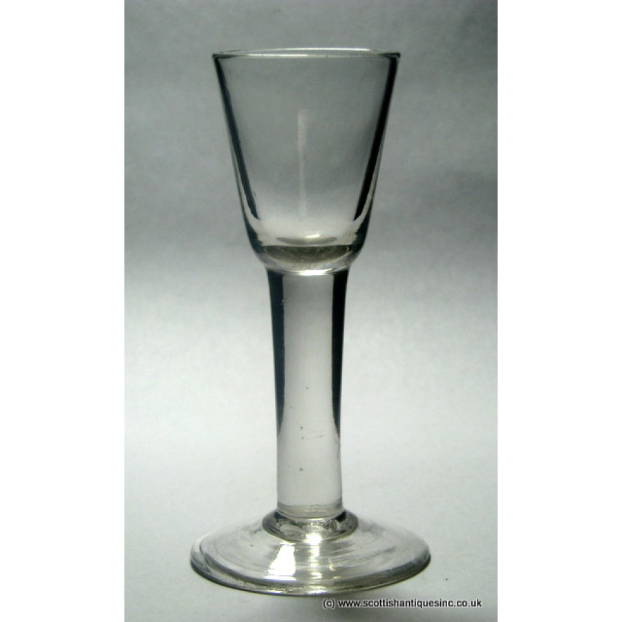 Sold georgian plain stem wine glass c1760 - Wine glasses with thick stems ...