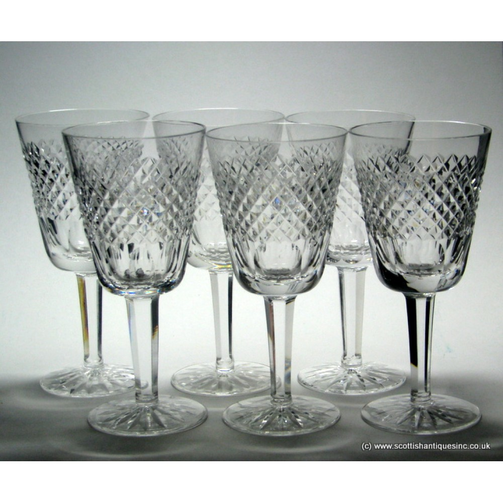 Sold six waterford crystal wine glasses - Wedgwood crystal wine glasses ...
