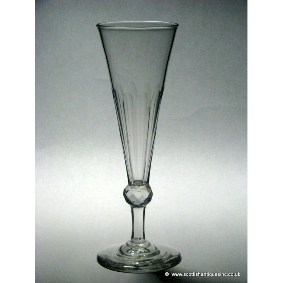 Sold georgian champagne flute glass c1820 - Fluted wine glasses ...