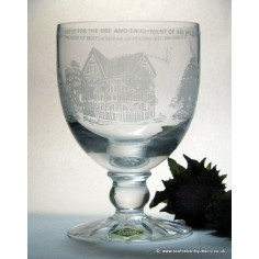 78b3ef278082 SOLD - Brierley Crystal Epping Forest Commemorative Glass Rummer c1978
