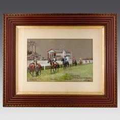 John Beer (1853-1906) Watercolour And Gouache- Manchester November Handicap 1902