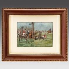 George Finch Mason (1850-1915) Watercolour- A Surprise Fall