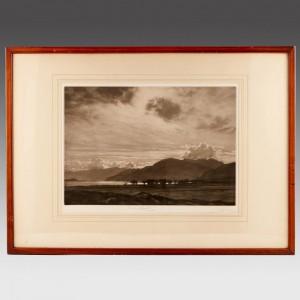 George Percival Gaskell (1868-1934) Mezzotint Lakeland Landscape