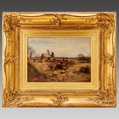 William Darling MacKay (1844-1924): Field Workers In Spring: At The Potato Pits