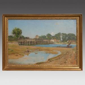 Sir David Murray RA HRSA RSW RI ( 1849-1933) Oil on Canvas Old Shoreham