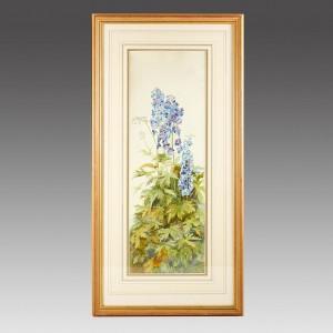 A Follower Of James Valentine Jelley ( 1856-1960) Watercolour-Geraniums