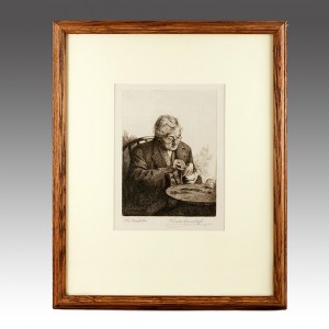 Charles Spencelayh  (1865 – 1958) - The Bachelor