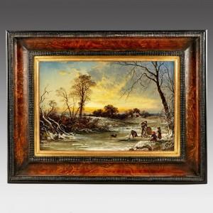 George Augustus Williams (1814-1901): The Frozen Pond