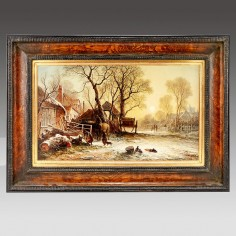 George Augustus Williams (1814-1901): Winter - Barnes Common London
