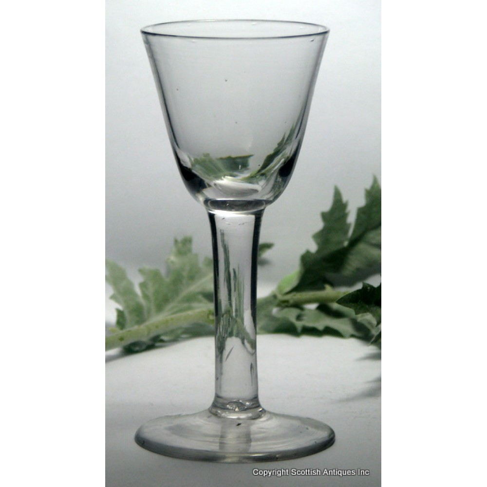 Sold georgian thick plain stem wine glass c1750 - Wine glasses with thick stems ...