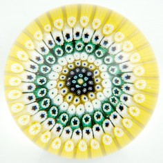 A Whitefriars Concentric Millefiori Paperweight c1950