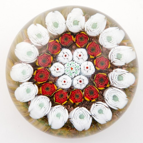 A James Hart Millefiori Concentric Paperweight c2000