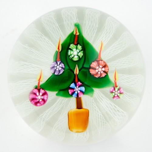 A John Deacons Christmas Tree Paperweight 1998