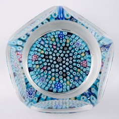 A Whitefriars Close Pack Facet Cut  Paperweight c1970