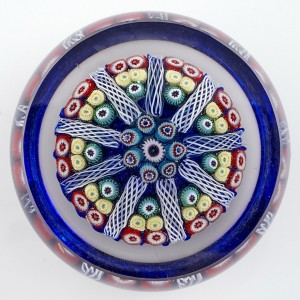 A Strathearn Facet Cut Radial Spoke Paperweight c1970