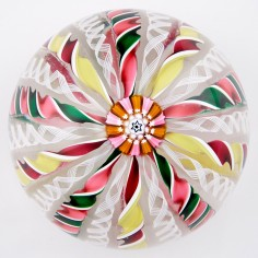A John Deacons Twisted Ribbon Crown Paperweight 2002