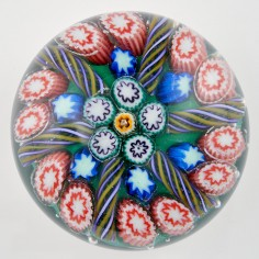 A Vasart Six Spoke Radial Concentric Paperweight c1950