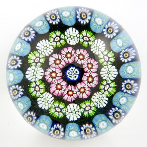 A Signed Paul Ysart Caithness Concentric Complex Millefiori Paperweight c1970