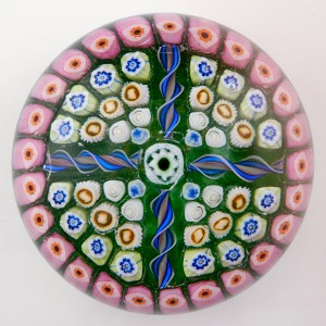 A Strathearn Four Spoke Radial Paperweight c1970