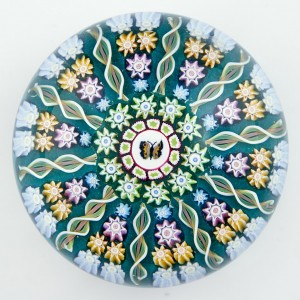 A Perthshire PP108 Butterfly Millefiori Paperweight  c1990