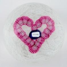 A John Deacons Princess Diana Heart Paperweight Dated 1997