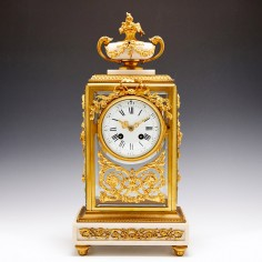 19th Century French Four-Glass Mantel Clock