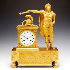 French First Empire Ormolu Mantel Clock c 1810