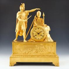 French 1st Empire Ormolu Mantel Clock - Alexander the Great c1810