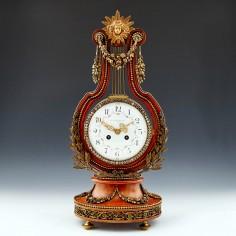 A French Lyre Mantel Clock circa 1900
