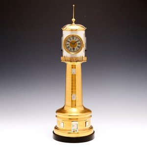 Late 19th Century French Automaton Lighthouse with Clock, Thermometers and Barometer