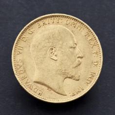 Uncirculated Edward VII 1906 Melbourne Mint Gold Sovereign