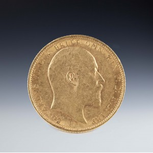 Uncirculated Edward VII 1906 Melbourne Mint Gold Sovereign