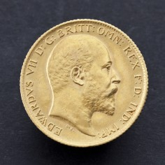 Edward VII 1907 Half Sovereign Gold Coin