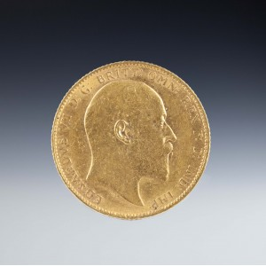 Uncirculated Edward VII 1903 Gold Sovereign