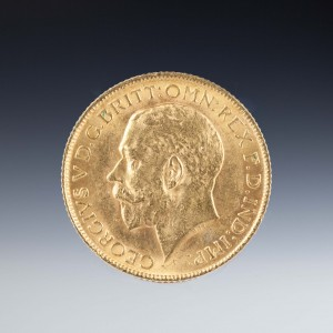 Uncirculated George V 1913 Gold Sovereign