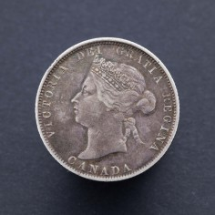 Canada Victoria 1872-H Twenty Five Cents