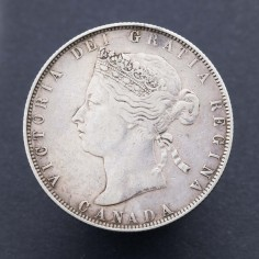 Canada Victoria Fifty Cents 1870