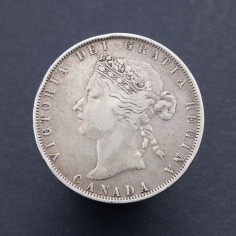 Canada Victoria Fifty Cents 1872H