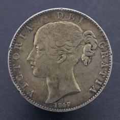 Victoria 1847 Silver Crown