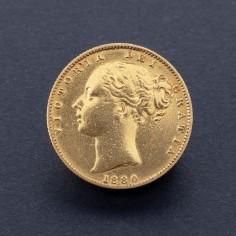 Victoria 1880 Shieldback Sydney Mint Sovereign