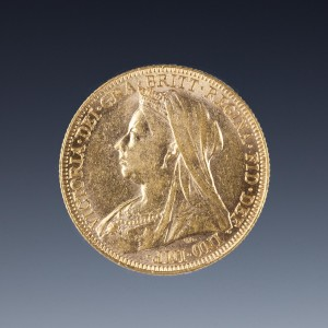 Uncirculated Victoria 1896 Gold Sovereign